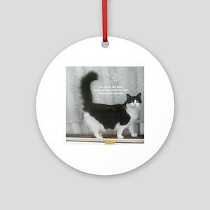 85_18 OCT 10 - 3d-haiku Round Ornament