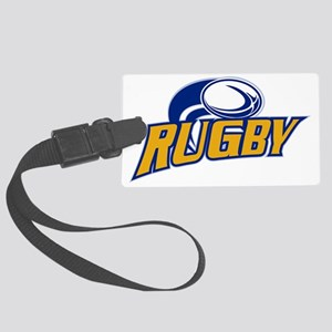 rugby ball flying Large Luggage Tag