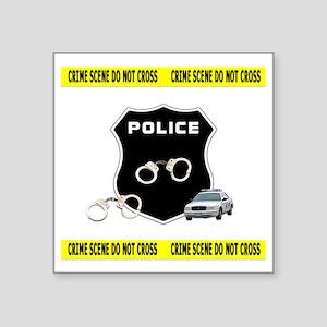 "Police Crime Scene Square Sticker 3"" x 3"""