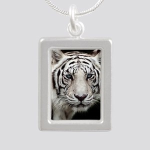 tiger1 Silver Portrait Necklace