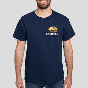 Fire Department Engineer Dark T-Shirt
