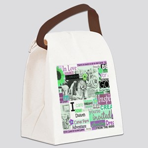 Lakewalk11x9calendarpurp Canvas Lunch Bag