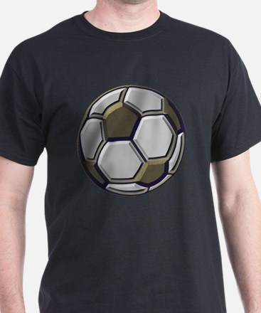 soccer art bevel 1 T-Shirt