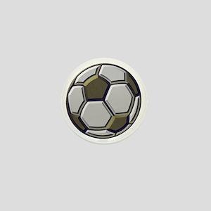 soccer art bevel 1 Mini Button