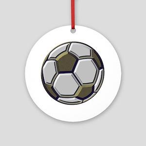 soccer art bevel 1 Round Ornament