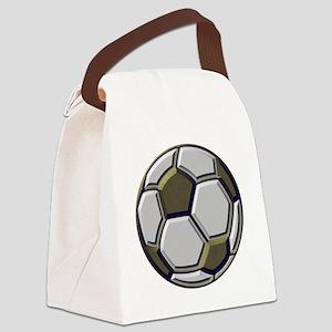 soccer art bevel 1 Canvas Lunch Bag