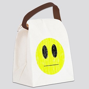 Distressed eh smily Canvas Lunch Bag
