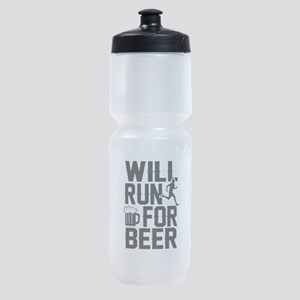WILL RUN NOW FOR BEER Sports Bottle