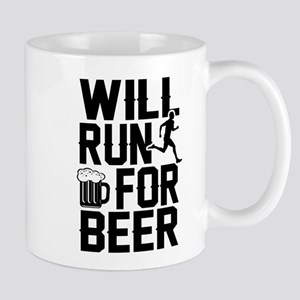 WILL RUN NOW FOR BEER Mugs