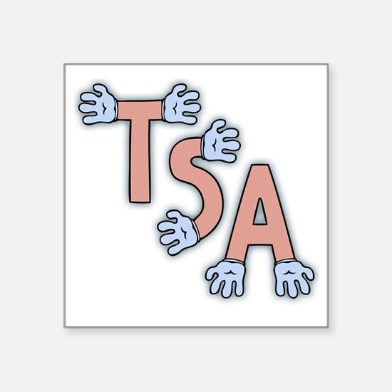 "TSA-hands-FLAT Square Sticker 3"" x 3"""