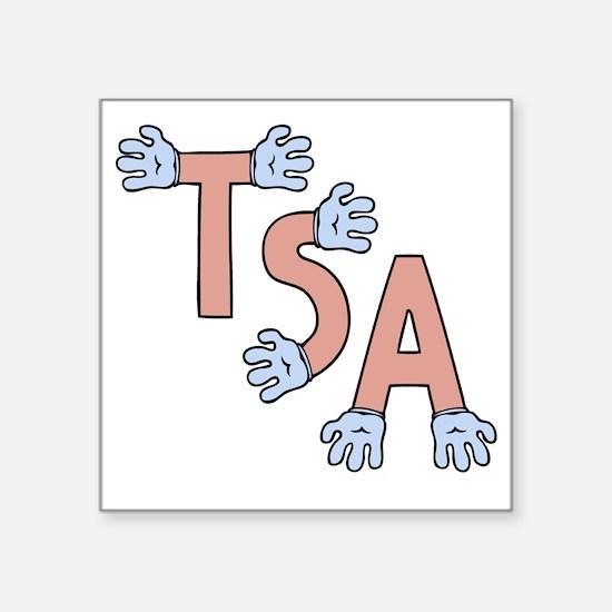 "TSA-hands-T Square Sticker 3"" x 3"""