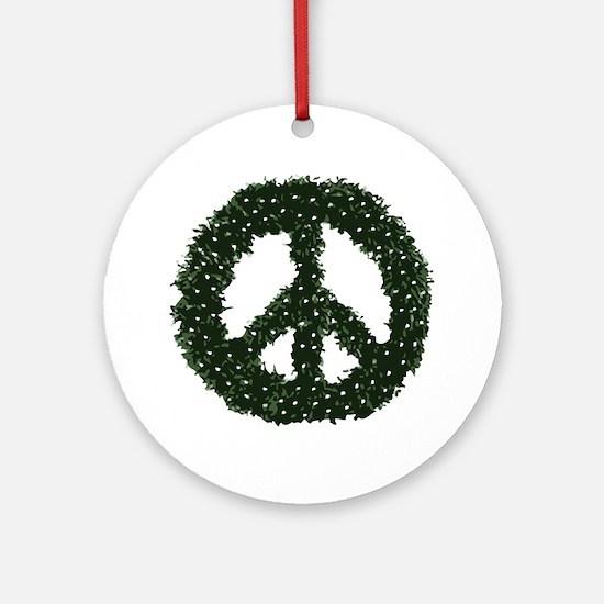 peace-wreath Round Ornament