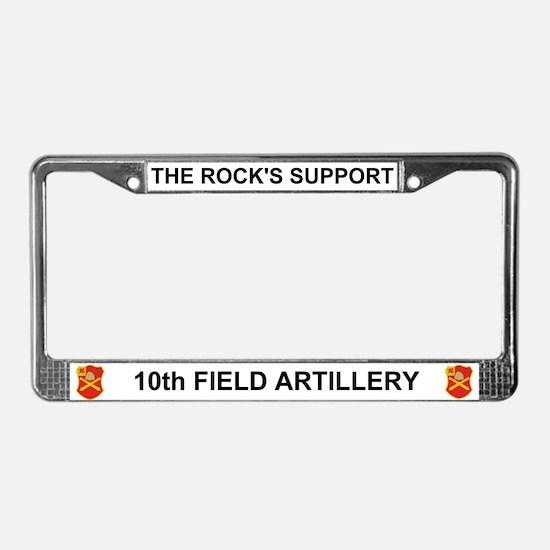 10th Field Artilery License Plate Frame