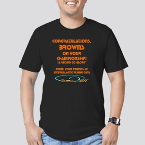 Browns IGFC trans colo Men's Fitted T-Shirt (dark)