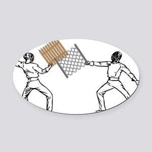fencing Oval Car Magnet