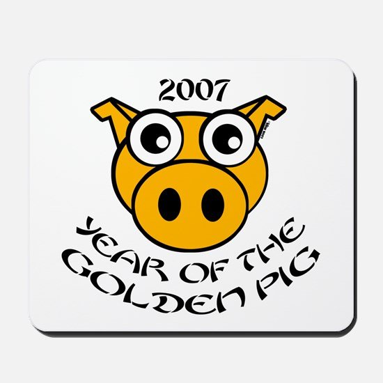YEAR OF THE GOLDEN PIG Mousepad