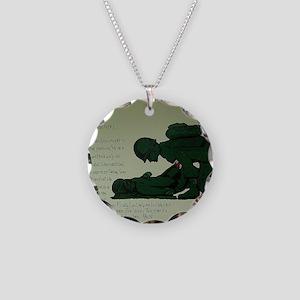 CombatMedicPrayer Necklace Circle Charm