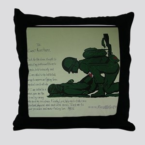 CombatMedicPrayer Throw Pillow