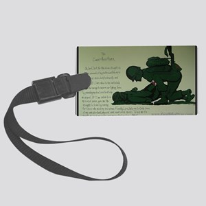 CombatMedicPrayer Large Luggage Tag