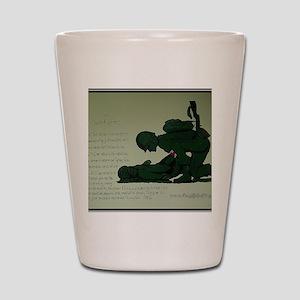 CombatMedicPrayer Shot Glass