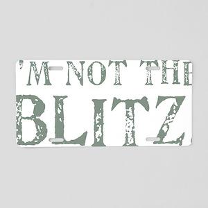 BLITZ Aluminum License Plate