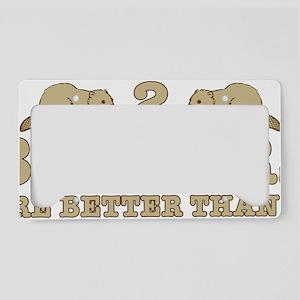 2 beaverS License Plate Holder