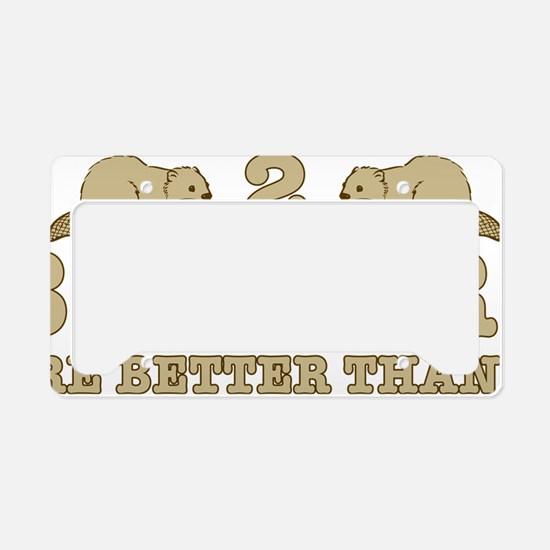 2 beaverS License Plate Holder