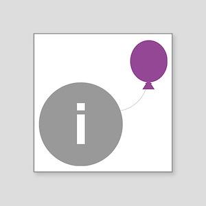 "introvert party logo Square Sticker 3"" x 3"""