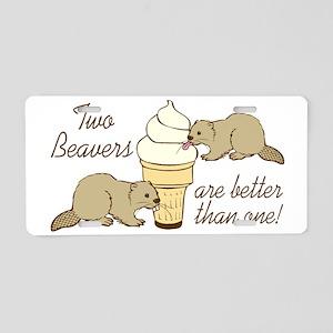 2 beaverS_5 Aluminum License Plate