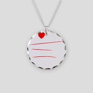I Love Myself (White) Necklace Circle Charm