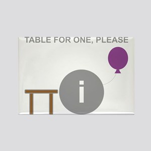 Introvert table for one Rectangle Magnet