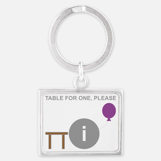 Introvert table for one.gif Landscape Keychain
