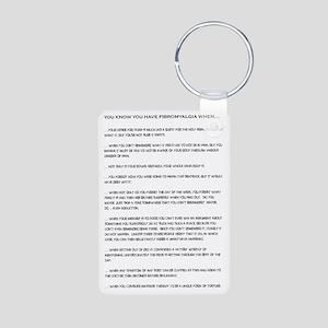 Fibromyalgia Aluminum Photo Keychain