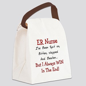 ER Nurse SLAPPED BEATEN Canvas Lunch Bag