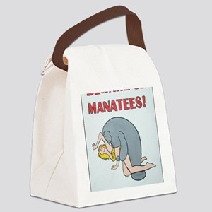 Beware of Manatees Canvas Lunch Bag