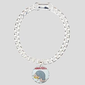 Beware of Manatees Charm Bracelet, One Charm