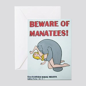 Beware of Manatees Greeting Card