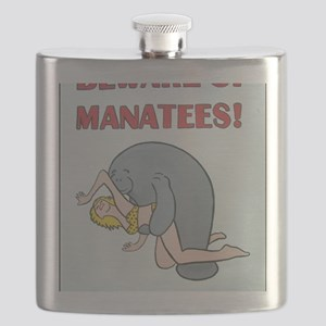 Beware of Manatees Flask