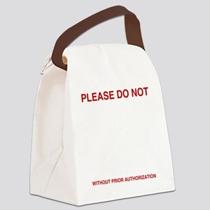 Please-do-not Canvas Lunch Bag