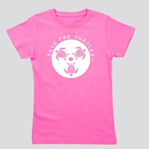 SAVE THE TURTLES WHTIE LOGO DESIGN Girl's Tee