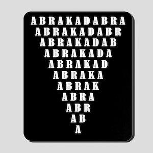 Abrakadabra/black Mousepad