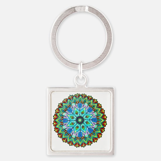 Mandala -Color Square Keychain