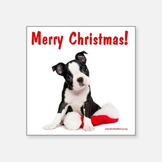"merry_christmas_2 Square Sticker 3"" x 3"""
