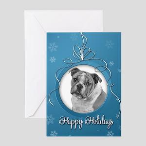 Elegant Bulldog Holiday Cards
