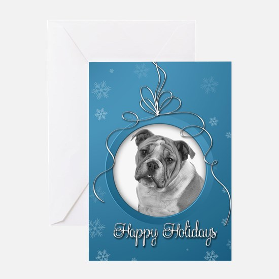Elegant Bulldog Holiday Cards