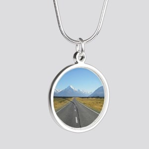 2-2-2300_Heading to Mt Cook  Silver Round Necklace