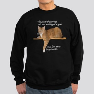Orange Cat Ginger Kitty Sweatshirt (dark)