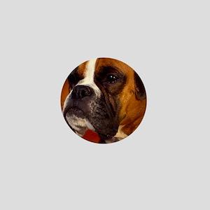 Boxer red oval ornament Mini Button