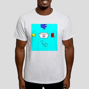 Round Nurse clock face Light T-Shirt