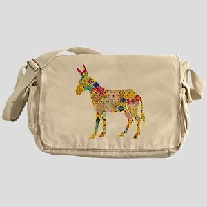 Flower Donkey Messenger Bag